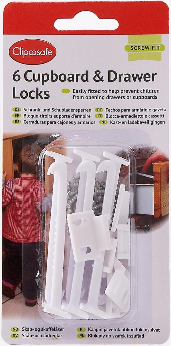 6 CUPBOARD _ DRAWER LOCKS