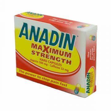 ANADIN MAXIMUM STRENGTH 12 CAPS