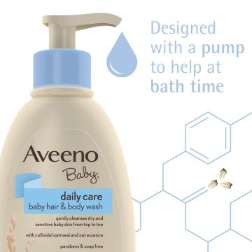 Aveeno Baby Daily Care Baby Hair And Body Wash 2