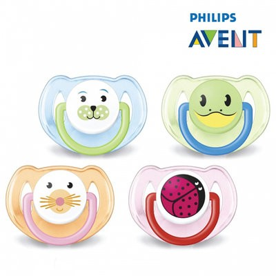 Avent Silicone Animal Soother 6-18m