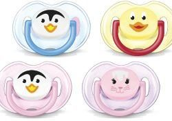Avent Silicone Animal Twin Pack Soothers 0-6 Months
