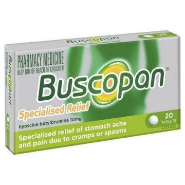 BUSCOPAN 10MG TABS 20pc