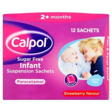 CALPOL 120MG/5ML SF INFANT ORAL SUSP 12sachets
