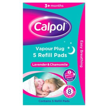 Calpol Vapour Plug 5 Refill Pads Lavender and Chamomile