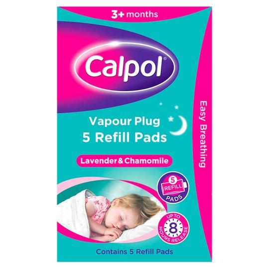 Calpol Vapour Plug 5 Refill Pads Lavender and Chamomile