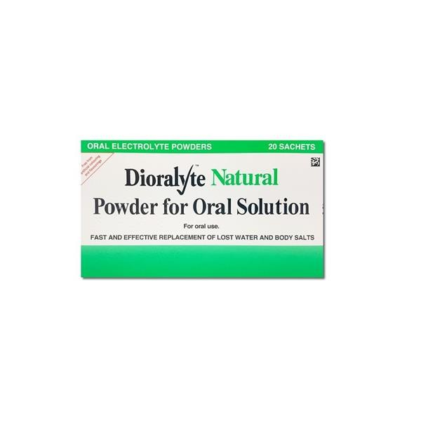 Dioralyte Natural Oral Solution 20 Sachets