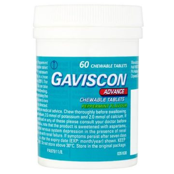 Gaviscon Advance 60 Chewable Tablets