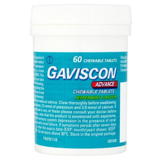 Gaviscon Advance 60 Chewable Tablets