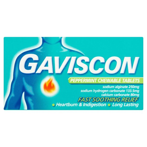 Gaviscon Peppermint 48 Chewable Tablets