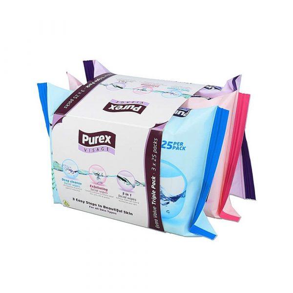 Purex Visage 3 Facial Wipes