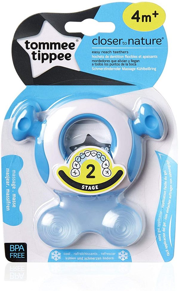 TOMMEE TIPPEE STAGE 2 TEETHING PAIN CLOSER NATURE 4M+