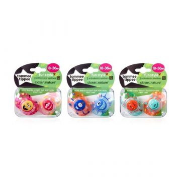 Tommee Tippee Fun Style Orthodontic Soothers 18-36m