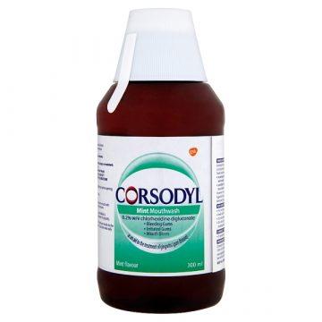 Corsodyl Gum Disease Treatment Mouthwash Chlorhexidine 0.2% Mint 300ml
