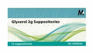 GLYCEROL 2G SUPPOSITORIES CHILDREN 12 Suppositories