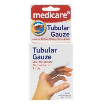 MEDICARE TUBULAR GAUZE 4TUBES&FINGER COT