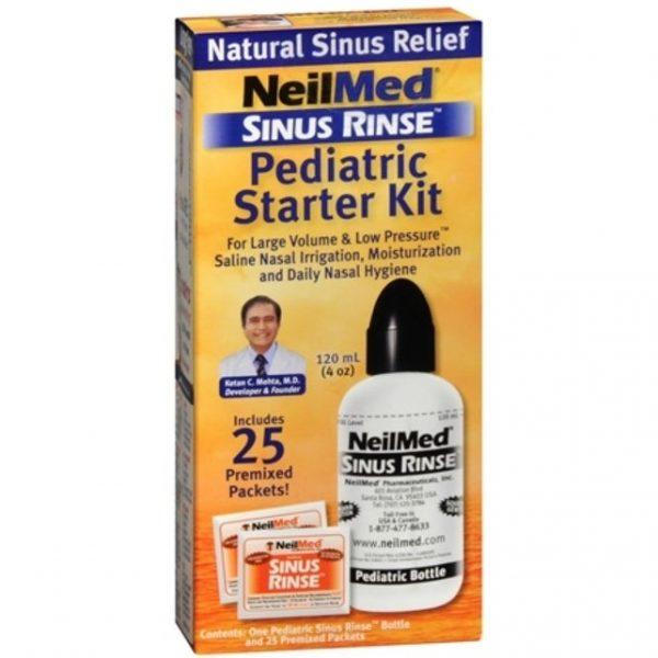 NEILMED SINUS RINSE PAEDIATRIC STARTER KIT 25 Sachets