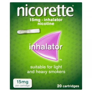 NICORETTE INHALER 15MG 20 CARTRIDGES