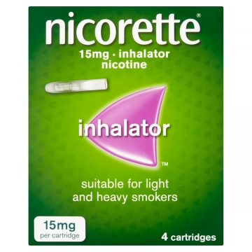NICORETTE INHALER 15MG 4 CARTRIDGES
