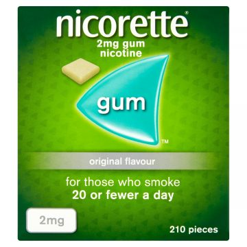 NICORETTE Original 2MG MEDICATED CHEWING GUM 210 PIECES