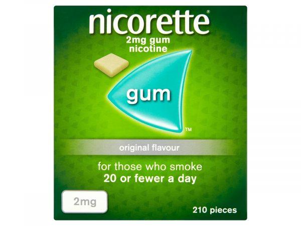 NICORETTE Original 2MG MEDICATED CHEWING GUM 210 PIECES