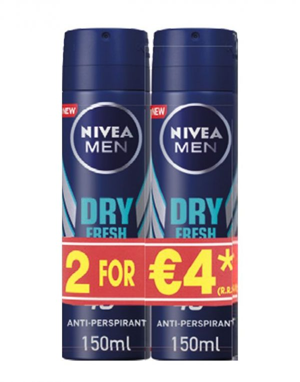 NIVEA MEN DEODORANT DRY TWIN PACK 2X150ML