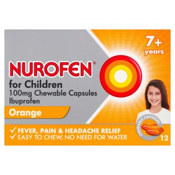 NUROFEN FOR CHILDREN 100MG SOFT CHEW 12 CAPSULES