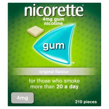 Nicorette Original 4mg Medicated Gum 210 Pieces