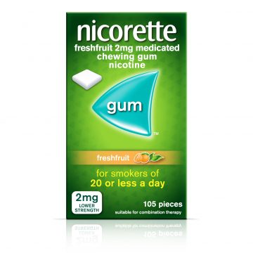 Nicorette Freshfruit 2mg Medicated Gum 105 Pieces