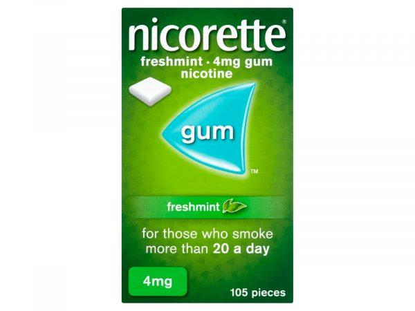 Nicorette Freshmint 4mg Medicated Gum 105 Pieces