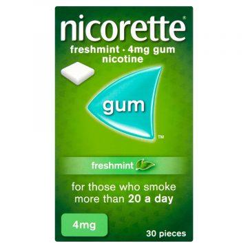 Nicorette Freshmint 4mg Medicated Gum 30 Pieces