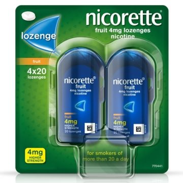 Nicorette Fruit 4mg 80 Lozenges
