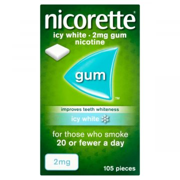 Nicorette Icy White 2mg Medicated Chewing Gum 105 Pieces
