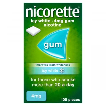 Nicorette Icy White 4mg Medicated Chewing Gum 105 Pieces