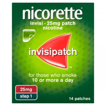 Nicorette Invisi Patch Extra Strength 25mg/16hours 14 Patches