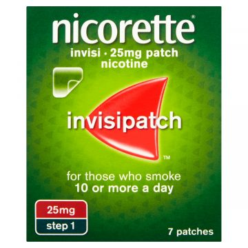 Nicorette Invisi Patch Extra Strength 25mg/16hours 7 Patches