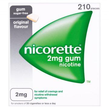 Nicorette Original 2mg Gum Sugar-free 210 Pieces