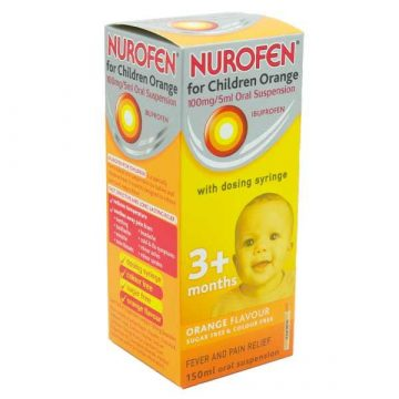 Nurofen for Children 3months plus 100MG/5ML Orange Flavour Oral Suspension 150ml