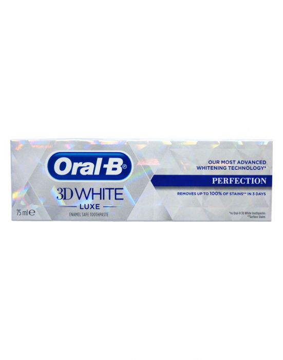 ORAL-B 3D PASTE WHITE LUXE PERFECTION 75ML