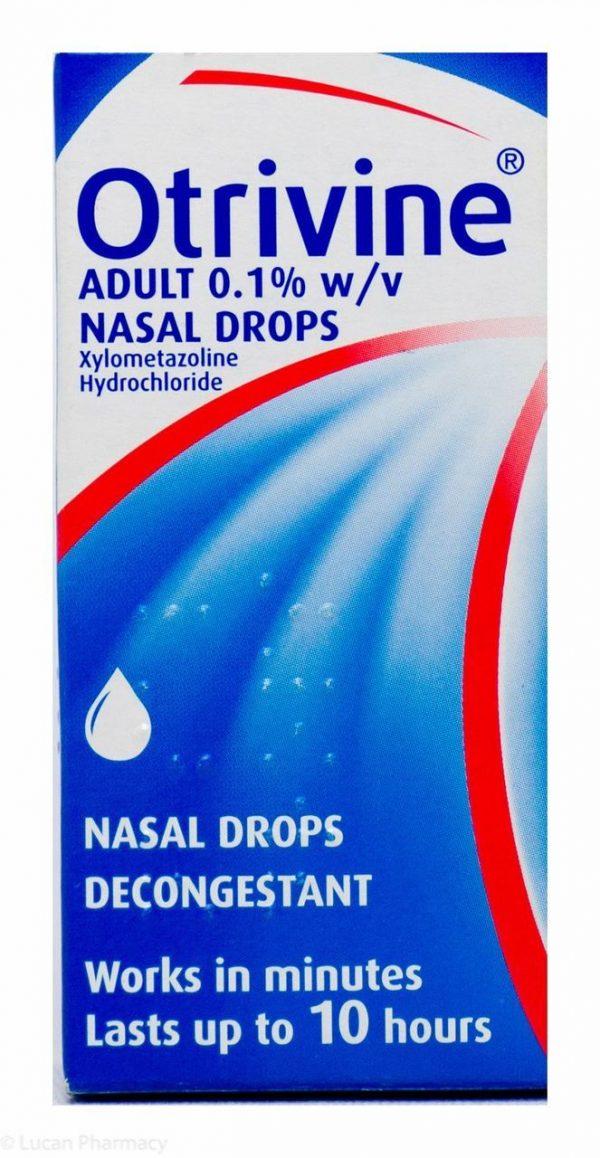 Otrivine Adult 0.1% Nasal Drops Solution 10ml