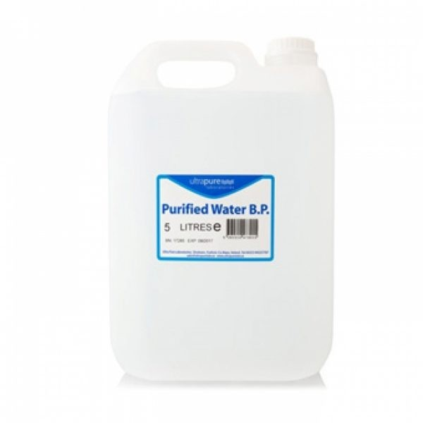 PURIFIED WATER BP GRADE ULTRAPURE 5Litre