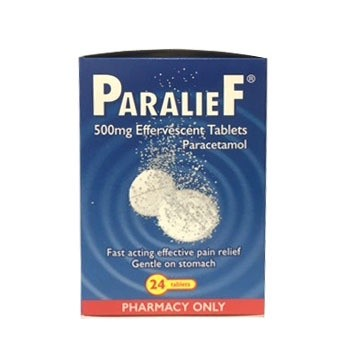 Paralief 500mg 24 Effervescent Tablets