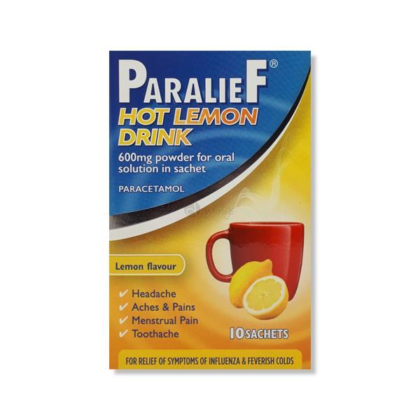 Paralief Hot Lemon Drink 600mg 10 Sachets