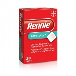 RENNIE SPEARMINT 680MG/80MG 24 CHEWABLE TABS