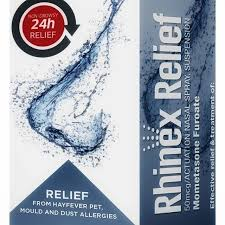 RHINEX RELIEF 50MCG NASAL SPRAY SUSPENSION 60 DOSES
