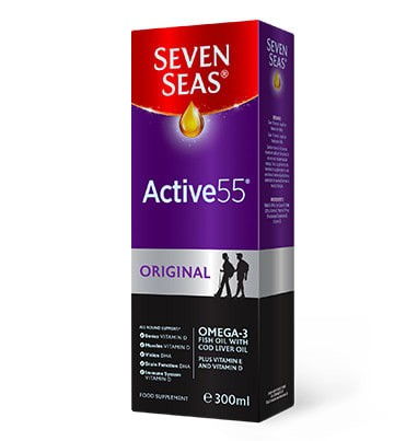 Seven Seas Active 55 Cod Liver Oil Liquid 300ml