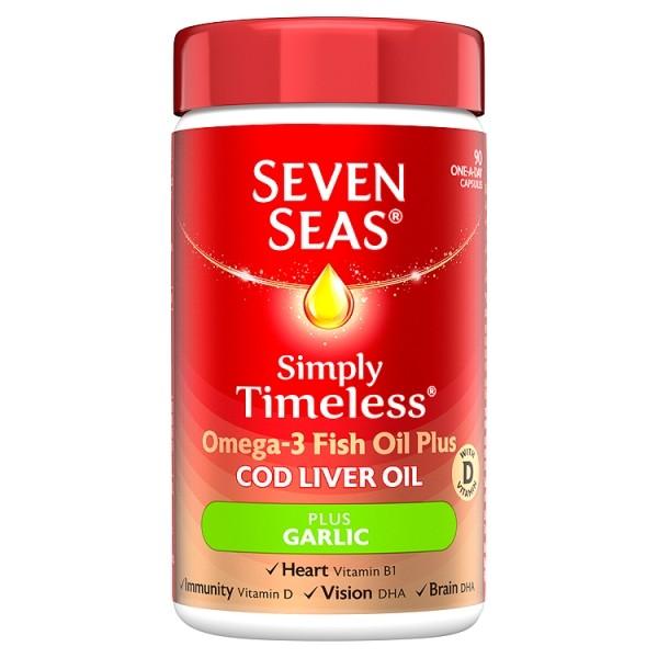 Seven Seas Cod Liver Oil & Garlic 90 Capsules