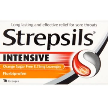 Strepsils Intensive Orange Sugar-Free 8.75mg 16 Lozenges