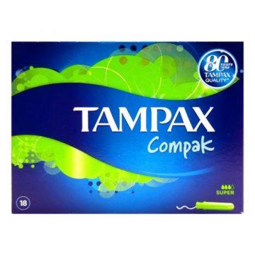 TAMPAX COMPAK SUPER GREEN 18'S