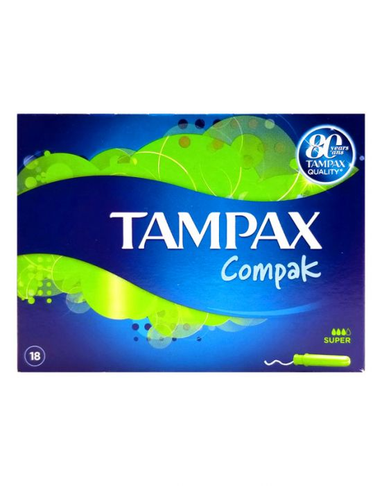 TAMPAX COMPAK SUPER GREEN 18'S
