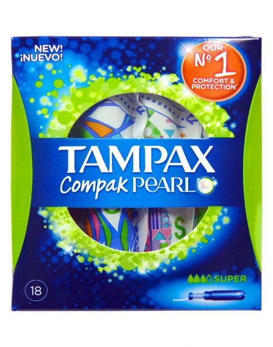 TAMPAX PEARL COMPAC SUPER GREEN 18S